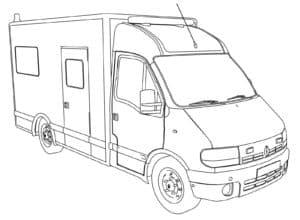 фургон раскраска для детей