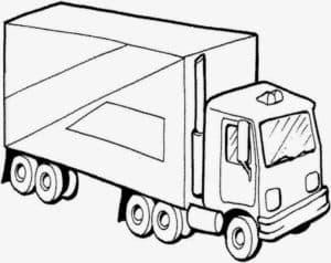 раскраска грузовик