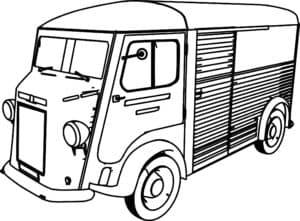 раскраска для ребенка фургон