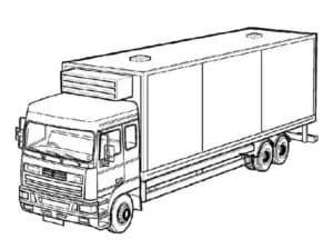 раскраска для ребенка грузовик