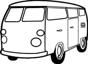 фургон трафарет