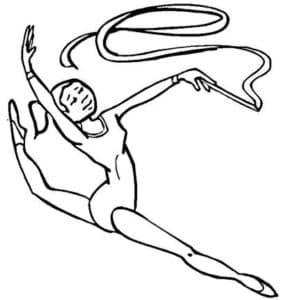 гимнастка с ленточкой