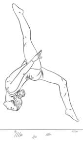 раскраска для ребенка гимнастка