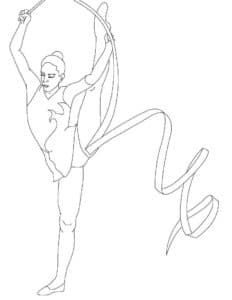 Женщина гимнастка