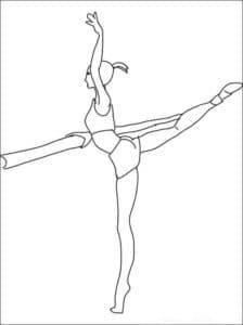 гибкая гимнастка