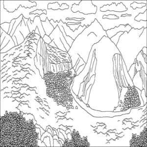 горы и облака антистресс