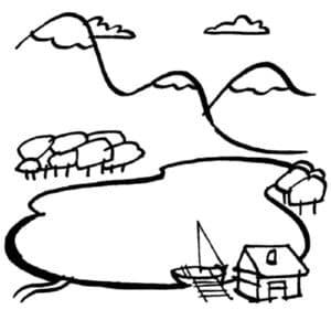 Горы и дом