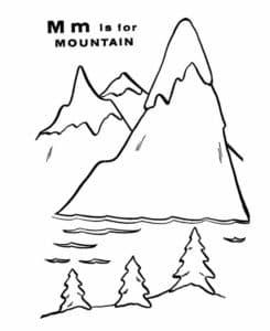 горы и елки картинки