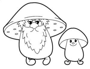 Дедушка гриб и внук