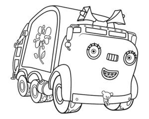 Девочка грузовик