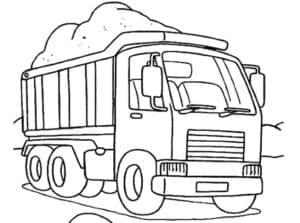грузовик с песком