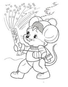 мышка с хлопушкой