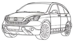 автомобиль Хонда раскраска для ребенка