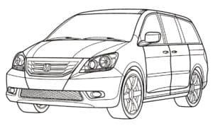 Хонда раскраска