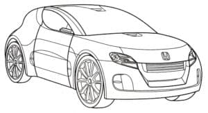Машина двухдверная хонда раскраска
