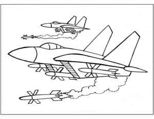 Истребители выпускают ракеты