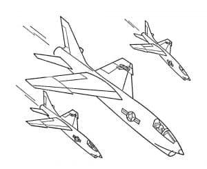 Три истребителя летят вниз
