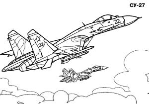 Истребитель в небе СУ-27
