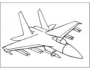 Красивый истребитель с ракетами