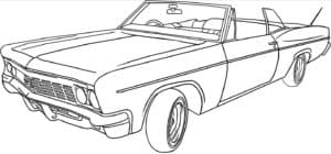 кабриолет старинный раскраска