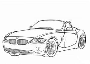 кабриолет BMW раскраска детская