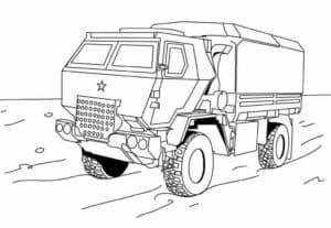 Военный автомобиль раскраска