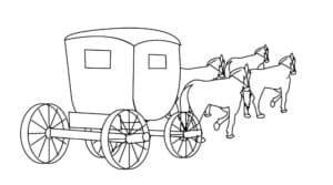 лошади тянут карету