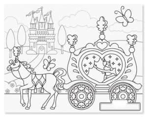карета с лошадкой и бабочки