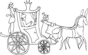 карета и извозчик с лошадьми