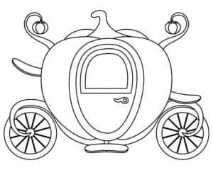 карета из большой тыквы раскраска для детей