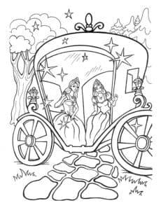 принцессы в карете