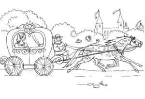 карета и лошади картинка