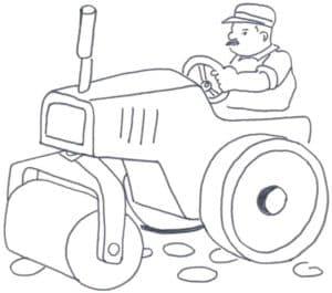 Дорожный каток с водителем