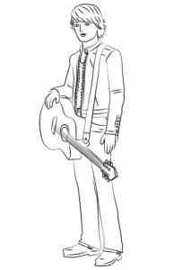 кен с гитарой