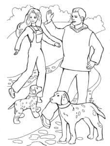 кен барби и собаки