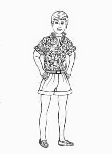 кен в рубашке детская раскраска