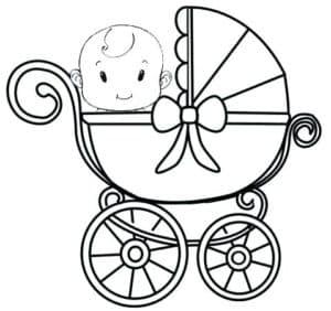 маленький мальчик в коляске