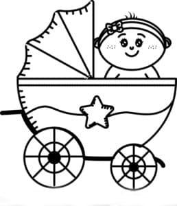 коляска с звездочкой