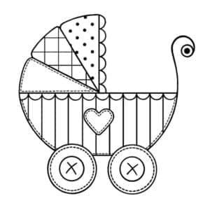 коляска с узорами