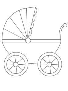 коляска красивая раскраска