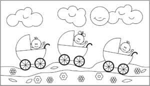 три коляски и облака