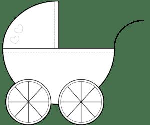 шаблон коляски