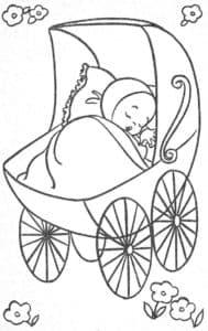 младенец спит в коляске