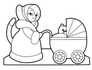 лисичка с коляской