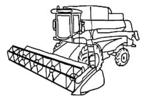 Раскраска зерноуборочный комбайн