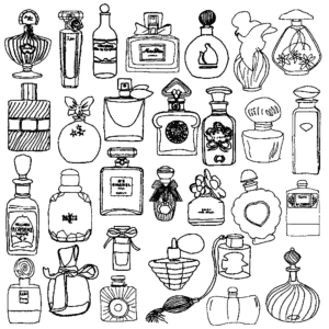 парфюм раскраска