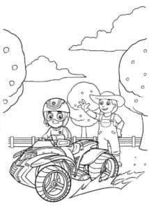 Дети на квадроцикле