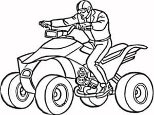 Мужчине на квадроцикле