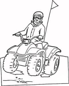 квадроцикл с позитивным водителем
