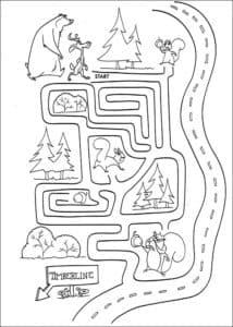 лабиринт с животными